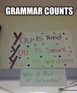 bad grammar cv writing