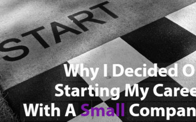 Why I Decided On Starting My Career With A Small Company