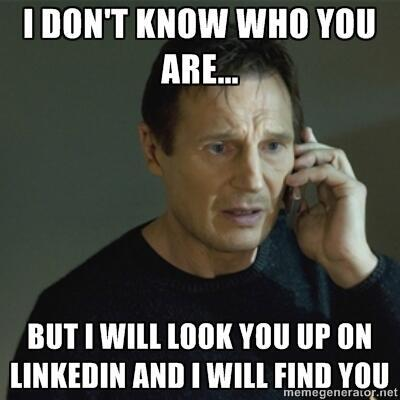 Recruitment agency look you up on linkedin